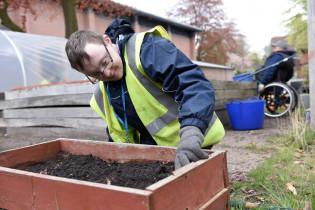 Gardening student at Greenbank College