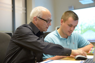 Student being supported by a member of the Learning Support Team