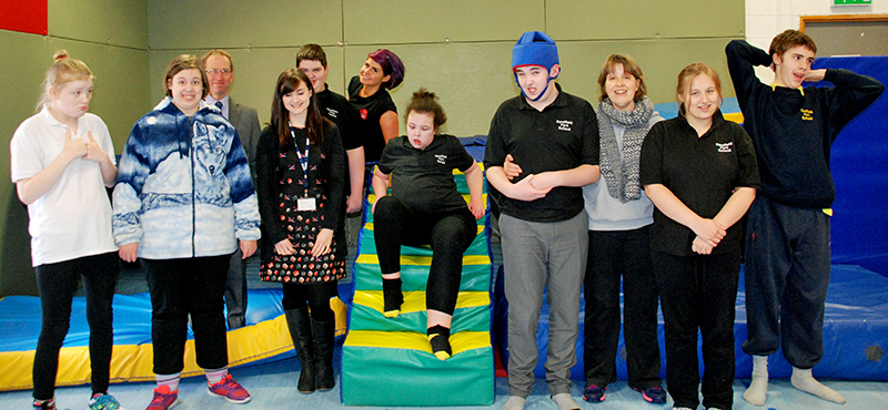 Participants at Rebound Therapy sessions funded by BBC Children in Need